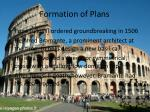 formation of plans