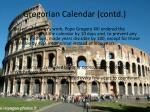 gregorian calendar contd