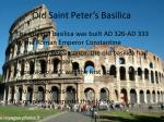 old saint peter s basilica