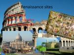 renaissance sites