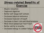 stress related benefits of exercise