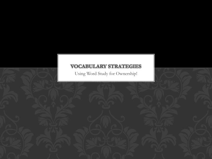 vocabulary strategies n.