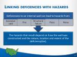 linking deficiencies with hazards2