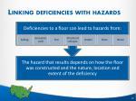 linking deficiencies with hazards5