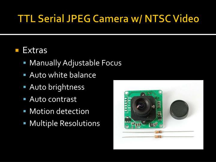 TTL Serial JPEG Camera w/ NTSC Video