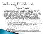 wednesday december 1st