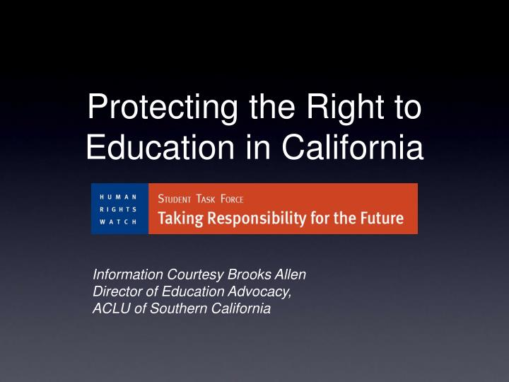protecting the right to education in california n.