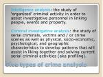 five types of crime analysis