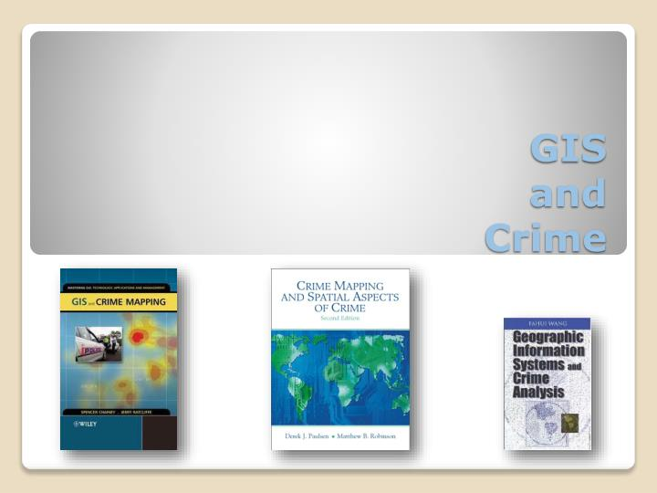 gis and crime n.
