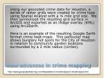 new advances in crime mapping