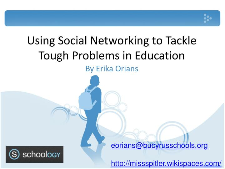 using social networking to tackle tough problems in education n.