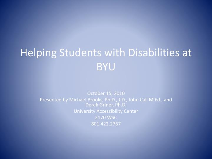 helping students with disabilities at byu n.