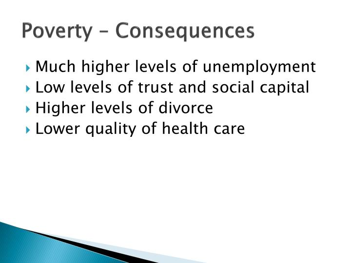 poverty consequences n.