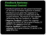 feedback systems hormonal control