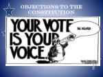 objections to the constitution