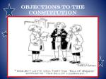 objections to the constitution1
