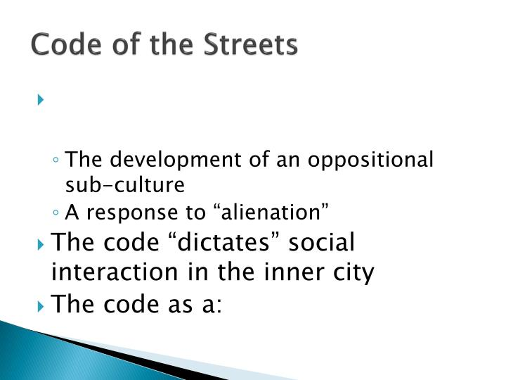 code of the streets n.