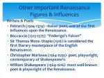 other important renaissance figures influences