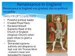 renaissance in england