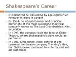 shakespeare s career