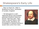 shakespeare s early life