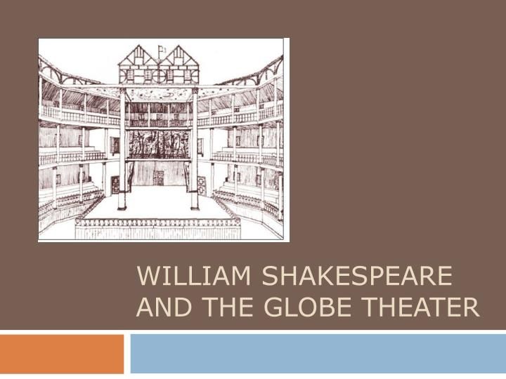 william shakespeare and the globe theater n.