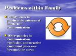 problems within family