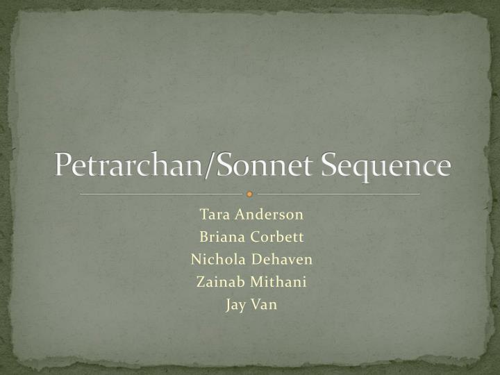 petrarchan sonnet sequence n.