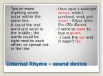 internal rhyme sound device