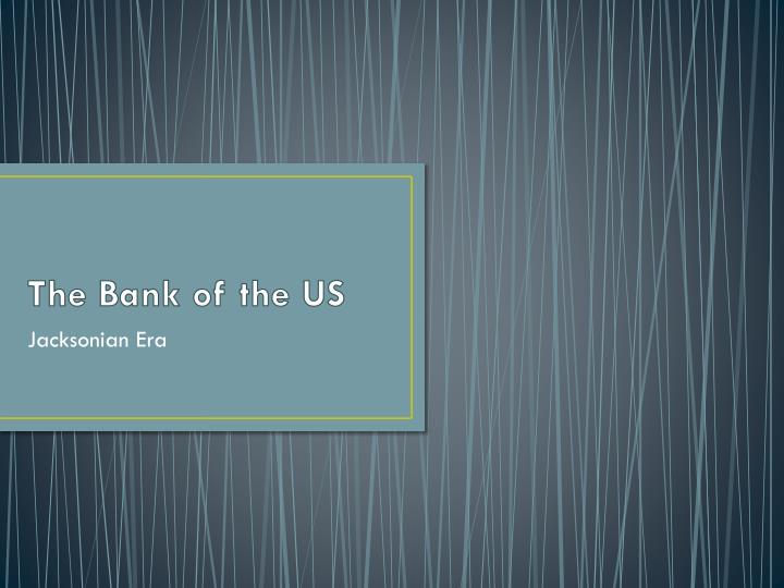 the bank of the us n.