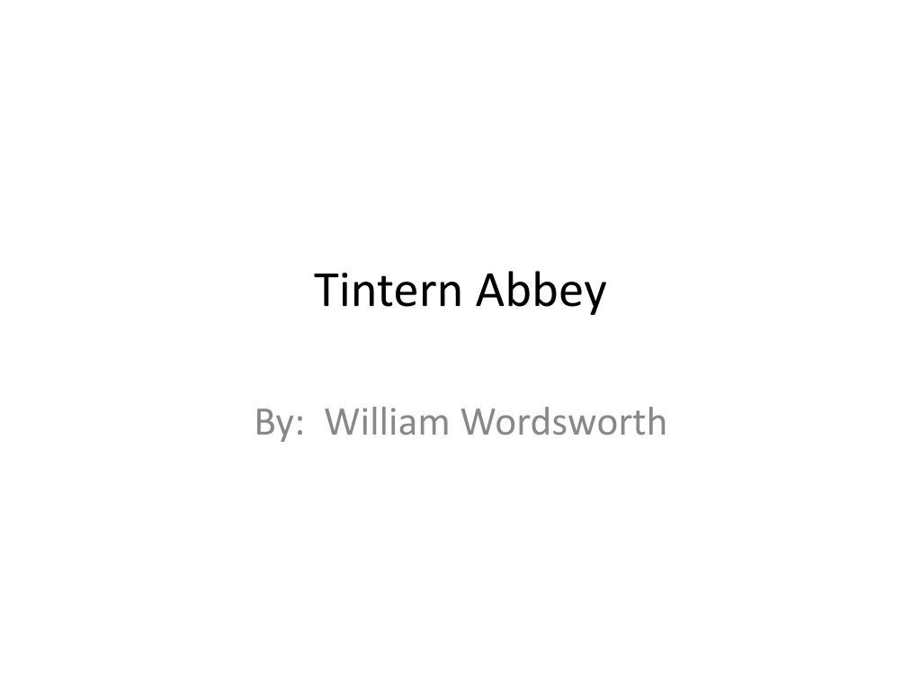 tintern abbey theme