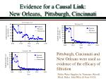 evidence for a causal link new orleans pittsburgh cincinnati