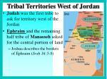tribal territories west of jordan