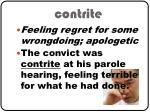 contrite