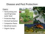 disease and pest protection