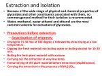 extraction and isolation
