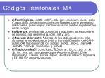 c digos territoriales mx2
