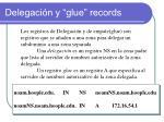 delegaci n y glue records