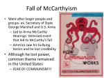 fall of mccarthyism