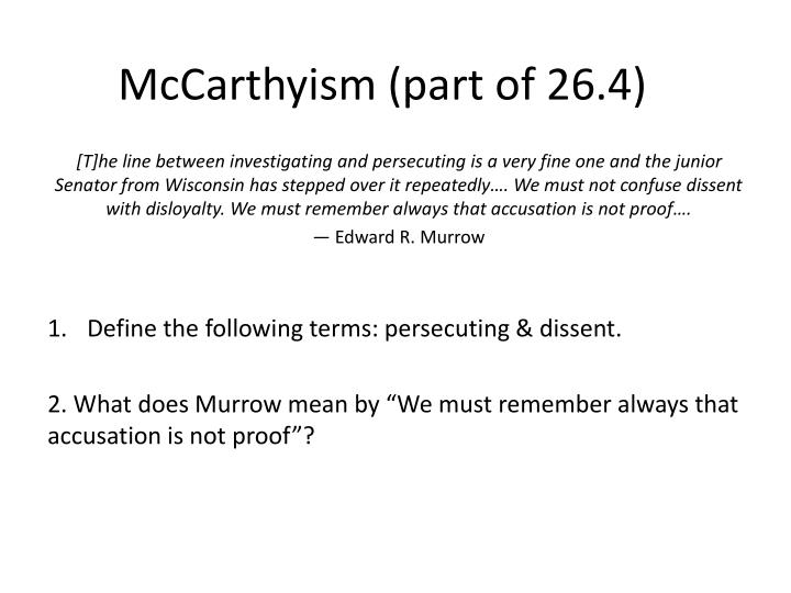 mccarthyism part of 26 4 n.
