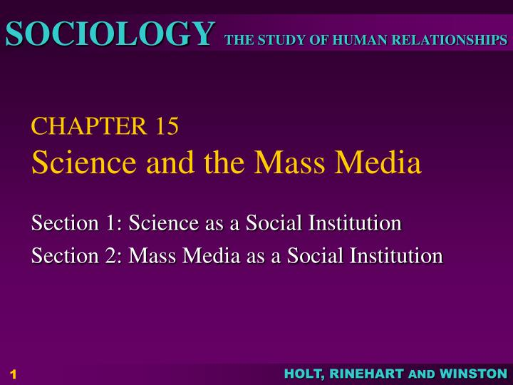 chapter 15 science and the mass media n.