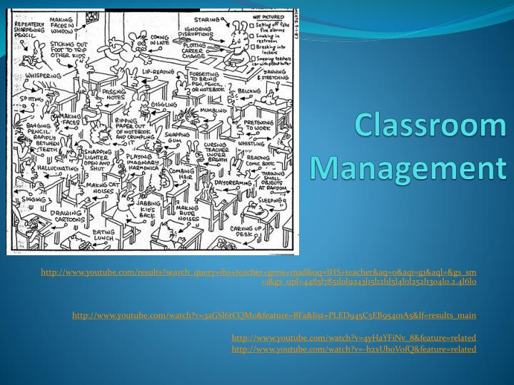 classroom management n.