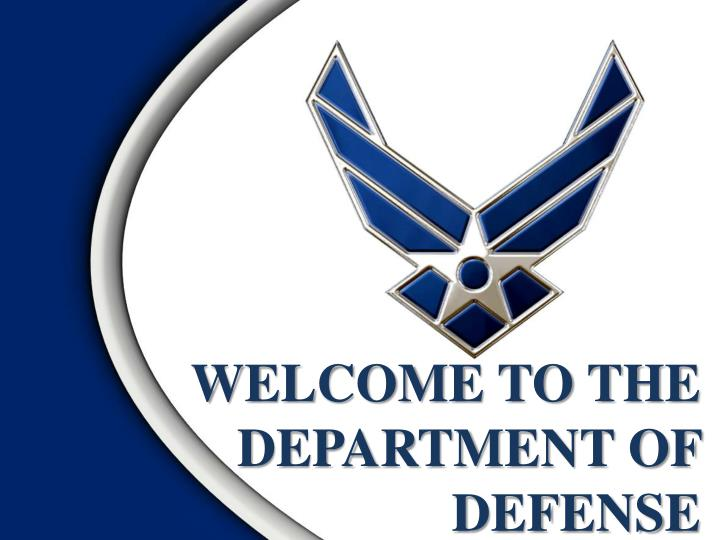 welcome to the department of defense n.
