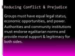 reducing conflict prejudice