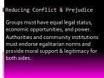 reducing conflict prejudice