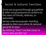 social cultural functions