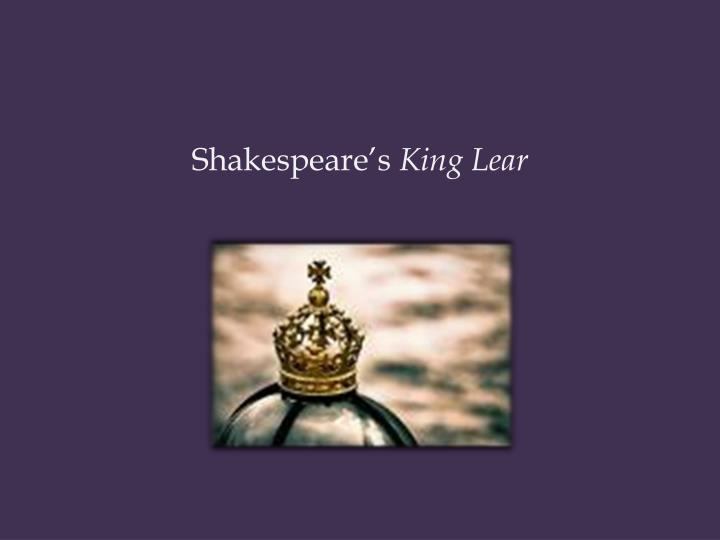 shakespeare s king lear n.