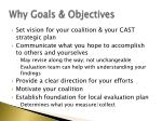 why goals objectives