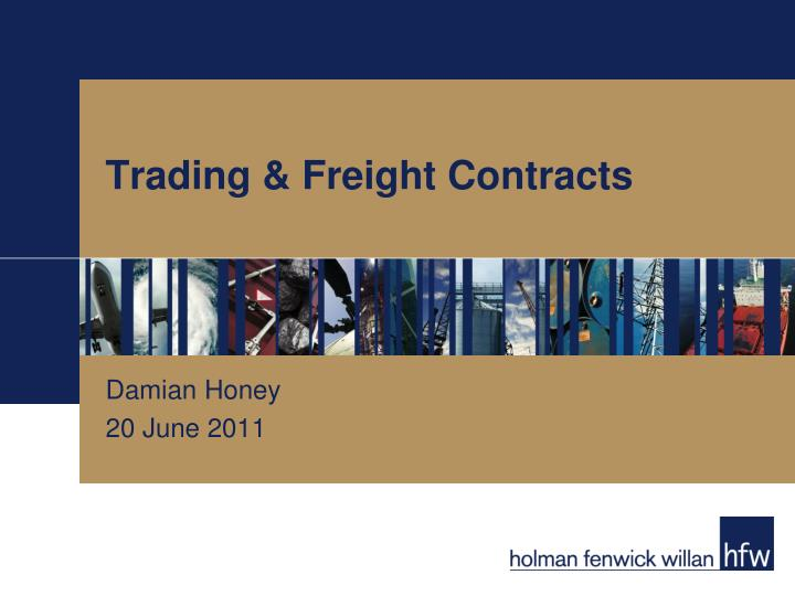 trading freight contracts n.