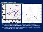 accretion rate vs sfr